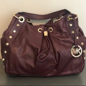 Michael Kors Burgandy Satchel